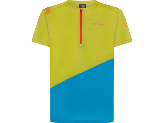 La Sportiva Limitless Camiseta Hombre, amarillo/azul
